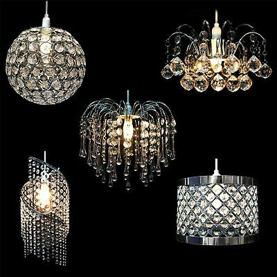 Modern Chandelier Style Ceiling Light Lamp Shade Drop Pendant Acrylic Crystal