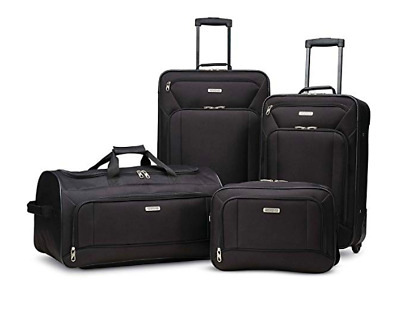 "American Tourister Fieldbrook XLT 4 Piece Luggage Set (25"", 21"") Many Color"