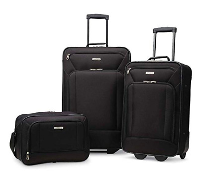 American Tourister Fieldbrook XLT Softside 3 Piece Set - Red/Black/purple