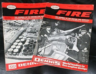 2 x vintage copies of FIRE - The Journal of the British Fire Services 1969 & 71