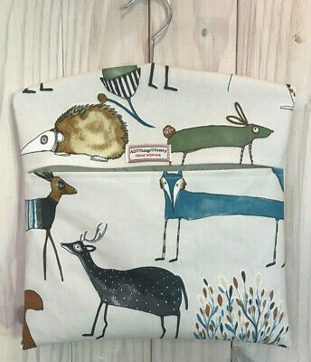 Peg Bag Made In Quality Matt Oil Cloth Fabric - Oh My Deer & Forest Friends