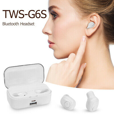 G6S TWS Mini Wireless BT5.0 Earbuds In-Ear Sport Earphone HiFi Headset Headphone