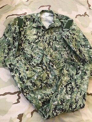 US NAVY AOR2 NWU Type III Woodland Uniform Maternity Blouse