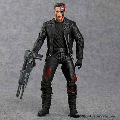 """NEW Terminator Judgment T-800 Ultimate Deluxe Arnold Action Figure Model Toy 7"""""""