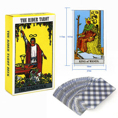 78pcs Rider Waite Tarot Deck Cards Major/Lesser Arcana English Full Version 2019