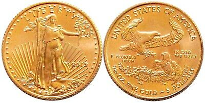 2015 AMERICAN GOLD EAGLE UNCIRCULATED 1/10-OZ - FREE Shipping!
