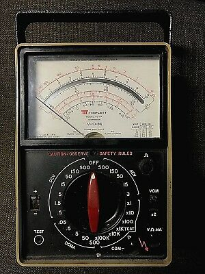 Triplett Model 60-NA Suspension Volt Ohm Milliammeter In Working Condition