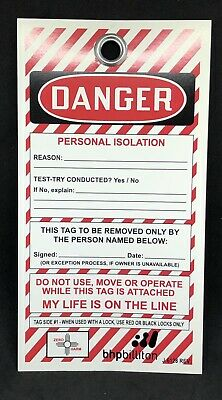 25 Pcs Danger (Lock Out Tag Out) Card Stock Safety Tag 7 1/2'' X 4''