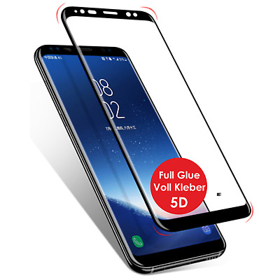 Voll Kleber Displayschutz Panzer Glasfolie Samsung S9 S9+ Plus Note 9 Full Glue