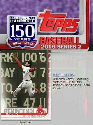 2019 Topps Series 2 350 Card Complete Base Set 1-350