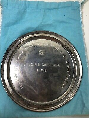 Vintage Tiffany & Co Sterling Silver Dish Plate Award