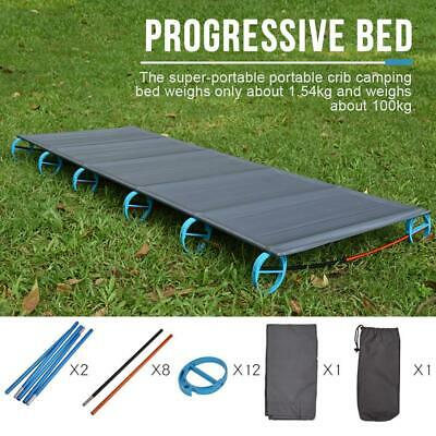 Outdoor portable folding bed camp bed Ultra light aluminum alloy camp bed