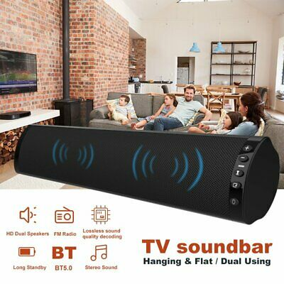 2019 Wireless Bluetooth 5.0 Sound Bar Audio Speaker TV Home Soundbar Subwoofer
