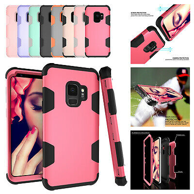 For Samsung Galaxy S9 Shockproof Heavy Duty Rubber Armor Protector Case Cover US