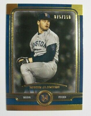 2019 Topps Museum Sapphire Parallel #17 Roger Clemens Red Sox 75/150