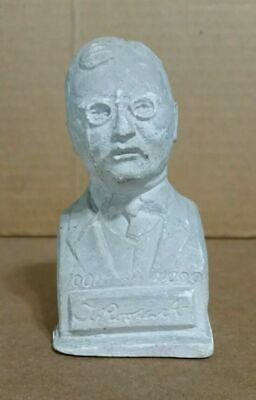 Antique Vintage 1909-10 President Theodore Teddy Roosevelt Chalkware Bust Statue