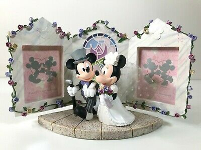 Disney Wedding- Mickey and Minnie Mouse - Just Married Resin Picture Frame