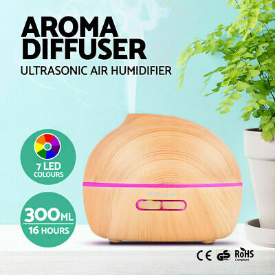 300ml Essential Oil Aroma Mist Aroma Ultrasonic Air Humidifier Diffuser Purifier