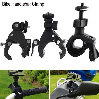 Bike Motorbike Handlebar Clop On Clamp Bracket Holder Mount for Camera Gopro CMT
