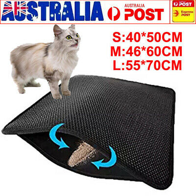 Brand New Double Layer Cat Litter Mat Trapper Waterproof Foldable Pad Pet Rug