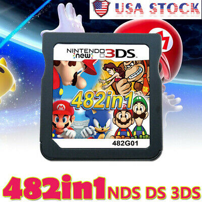 482 In 1 Video Game Cartridge Console Card For Nintendo NDS NDSL 2DS 3DS-NDSI
