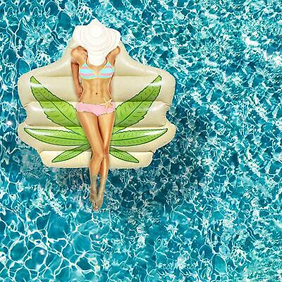 5Ft Pot Leaf WATER FLOAT Large Inflatable Swimming Pool Beach Weed Party Raft
