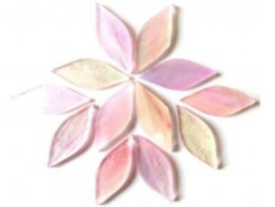 Small Pink Tiffany Stained Glass Petals - Mosaic Tiles Supplies Art Craft
