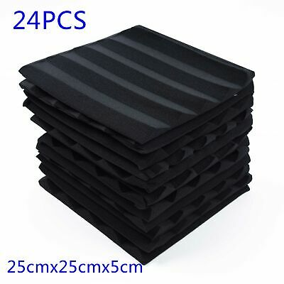 Pack Acoustic Foam Panel Wedge Studio Soundproofing Foam Wall Tiles