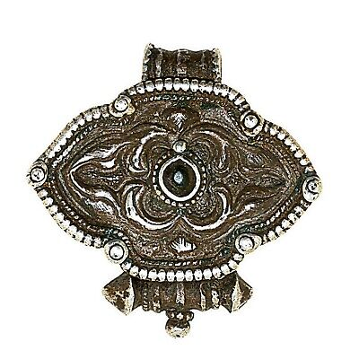 (2554)Antique silver miniature Gau box .Tibet.