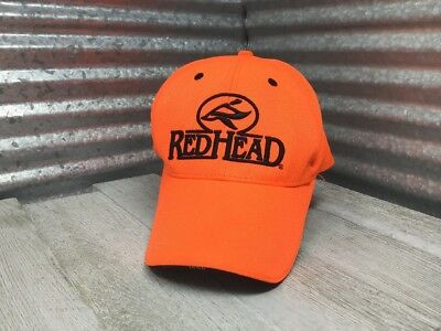 Red Head Safety Fluorescent Orange Strap Back Ball Cap One Size Fits Most