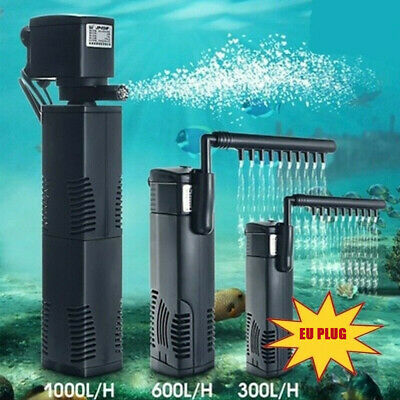 EU Hidom Internal Aquarium Pump Spray Bar Fish Tank Filter Filtration Submersibl