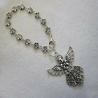 Daisy Chain / Guardian Angel Wings Car Rear View Mirror Charm Driving Test Pass