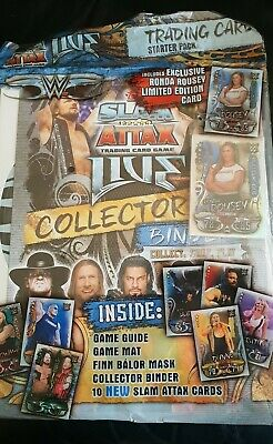 WWE Slam Attax Live Topps Starter Pack Album With Limited Edition Ronda Rousey
