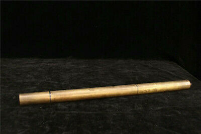 "16.93"" Collection Old Chinese copper Handmade Musical instrument Flute"
