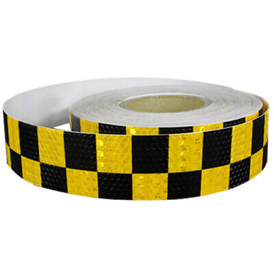 1M Reflective Safety Warning Conspicuity Tape Sticker, Black+yellow I2C7