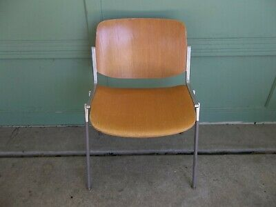 Set of 6 Castelli Plywood Chairs By Giancarlo Piretti Italy Mid Century Modern