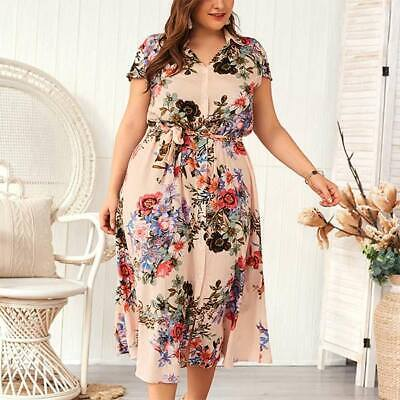 Summer Beach Plus Size Maxi Women Dress Holiday Party Long Sundress Strappy