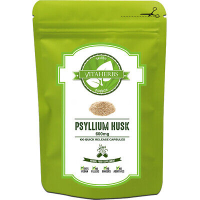 Psyllium Husk 600mg Capsules | Weight Loss | Colon Cleanse | Natural Fibre
