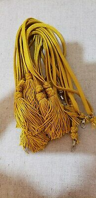 Liturgical Parament Embellishment Tassled Cord 8 Pcs Gold