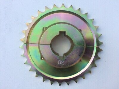 30 Tooth Go Kart Split Sprocket 428 Pitch - For 30mm Axle with 6mm or 8mm Keyway