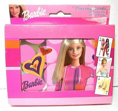 Barbie Playing Cards Collector's Tin 2 Sealed Playing Card Decks 2003