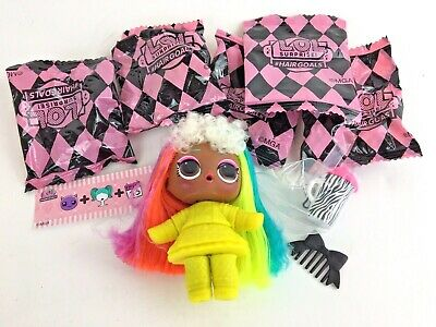 LOL Surprise Doll VALLEY BB Hair Goals Neon Hair 80's Look Authentic Sealed Bags
