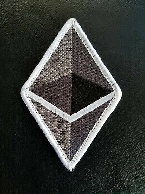 """Ethereum (ETH) Logo Hook and Loop Patch 3.6""""x2.4"""""""