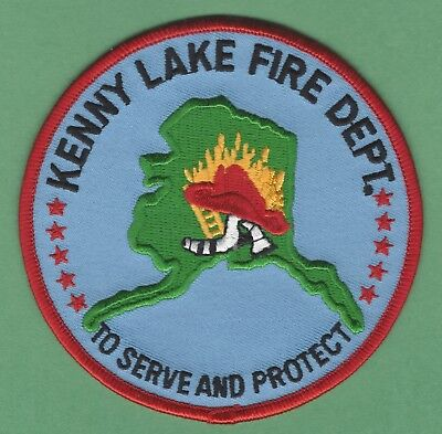 iron on embroidered patch Kenny Lake Alaska Fire Dept Unused