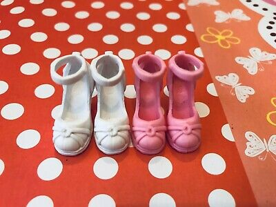 Doll Shoes ~ 2PAIRS Mattel Barbie Mary Jane Heel Sandal Shoes #S2049 NEW