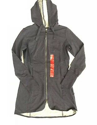 a12a3bfe0 MONDETTA WOMEN'S ANDREA Full Zip Long Length Hooded Jacket,Charcoal ...