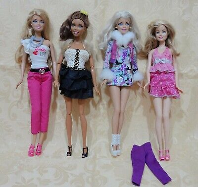 Barbie Lotto 4 Bambole Christie  Fashionistas - Barbie Fiat