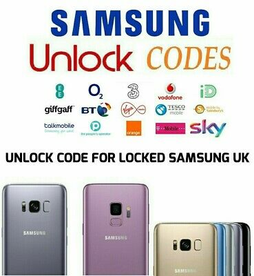 UNLOCK CODE FOR SAMSUNG GALAXY S10 5G S10+ S10E S9 S8 PLUS EE BT O2 Vodafone UK