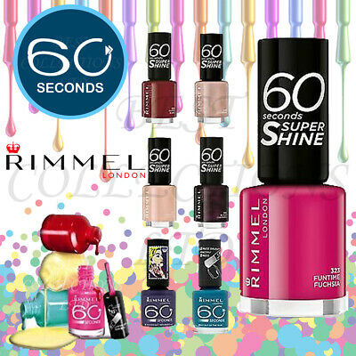 RIMMEL 60 SECONDS Nail Polish 8ML - BRAND NEW - CHOOSE YOUR SHADE FROM