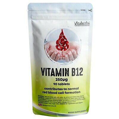 Vitamin B12 250µg Tablets | Memory | Focus | Concentration | Brain Support